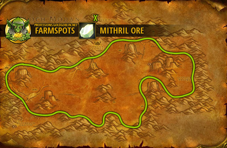Wow Farming Mithril Ore World Of Warcraft Classic Farm Guide