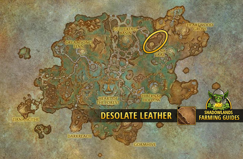 Farmspot for Desolate Leather in Ardenweald