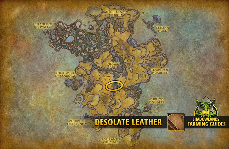 Most efficient farmspot for Desolate Leather in Bastion