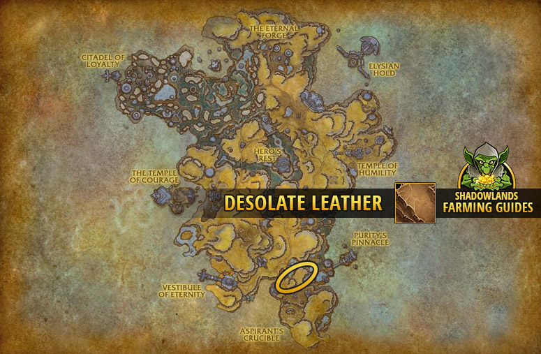 Farmspot for Desolate Leather in Bastion