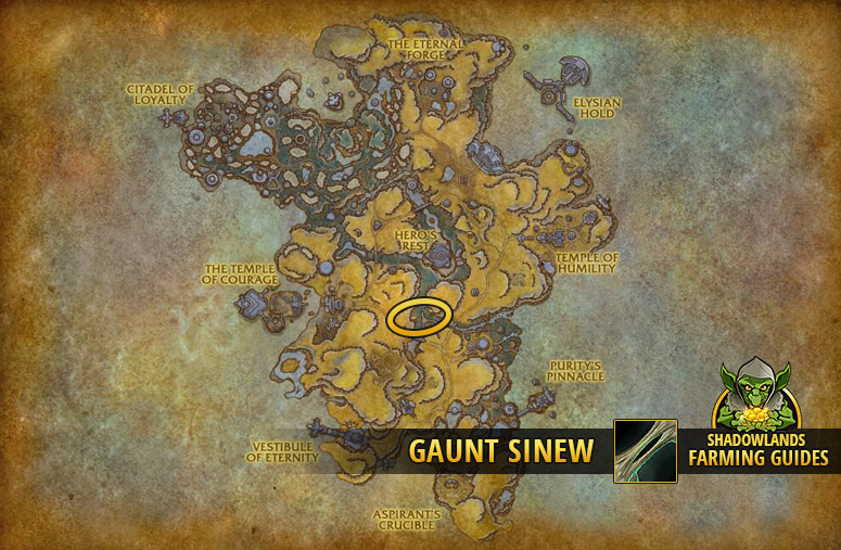 Most efficient farmspot for Gaunt Sinew in Bastion