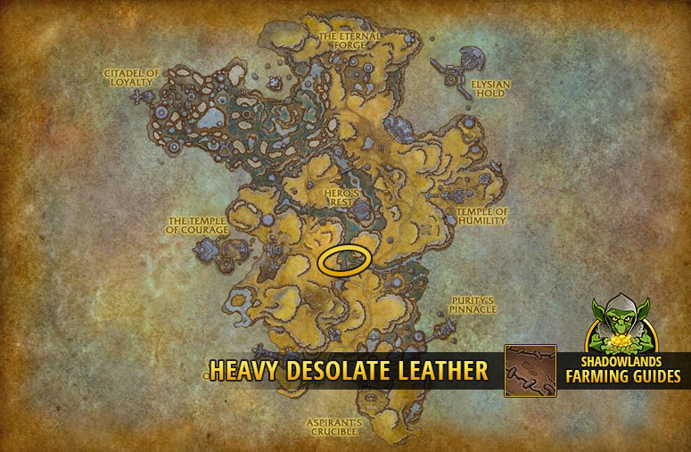 Most efficient farmspot for Heavy Desolate Leather in Bastion