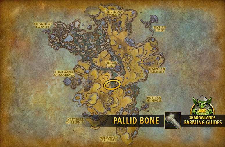 Most efficient farmspot for Pallid Bone in Bastion