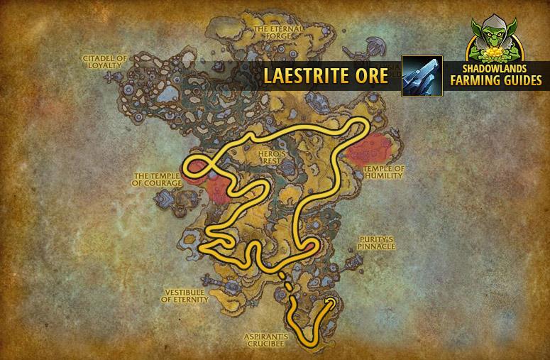 Route to farm Laestrite Ore in Bastion