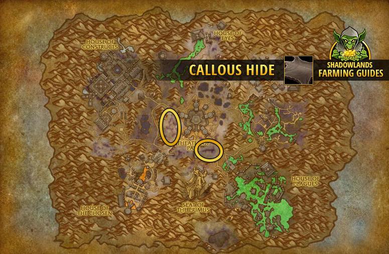 Farmspot for Callous Hide in Maldraxxus