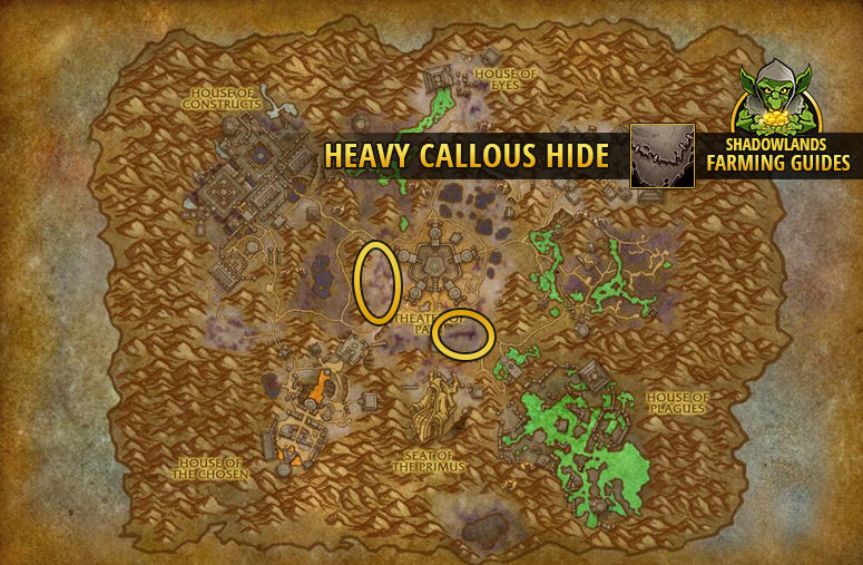 Farmspot for Heavy Callous Hide in Maldraxxus
