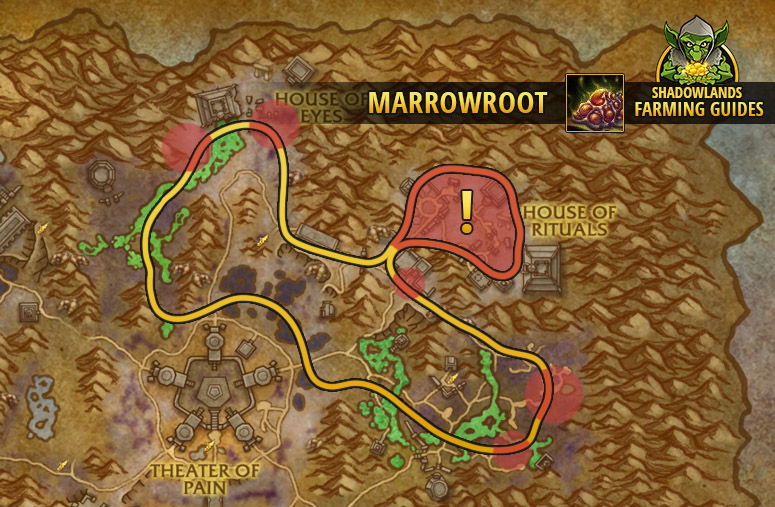 Route to farm Marrowroot in Maldraxxus