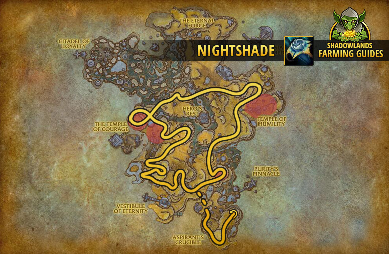 Route to farm Nightshade in Bastion