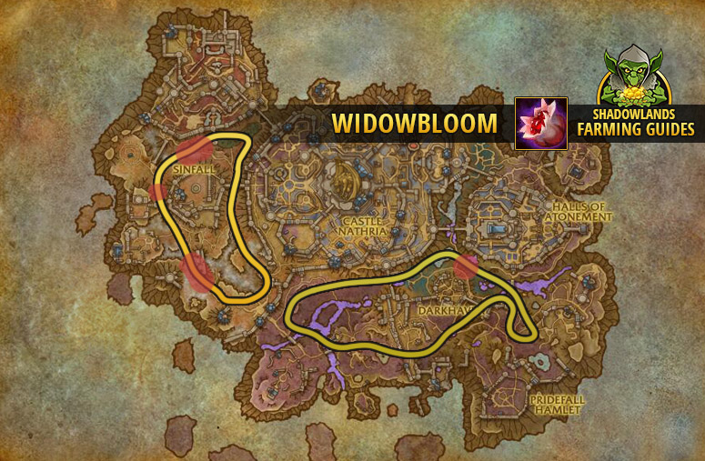Route to farm Widowbloom in Revendreth