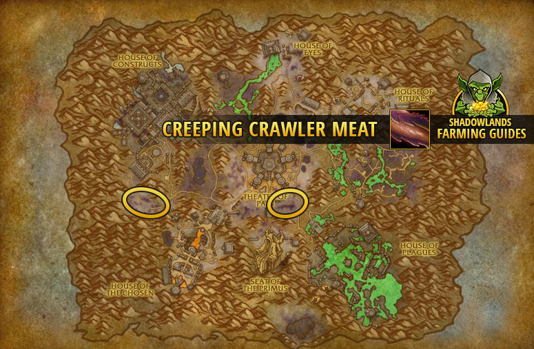 Farmspot for farming Creeping Crawler Meat in Maldraxxus