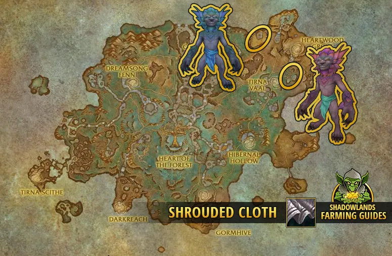 Farming Shrouded Cloth in Ardenweald