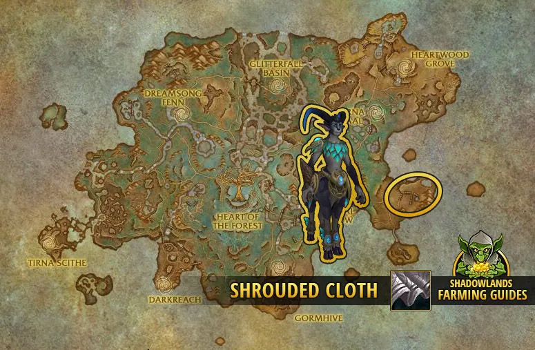 Farming Shrouded Cloth in Ardenweald (more of a group farmspot)