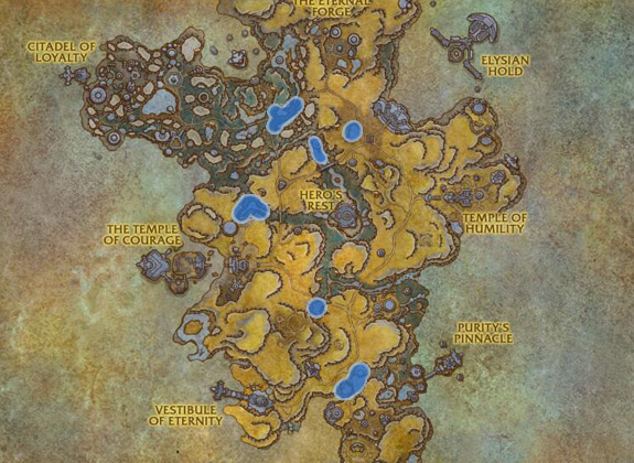 Most used spots for Fishing Elysian Thade in Bastion