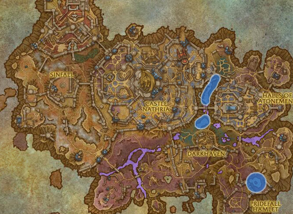 Most used spots for Fishing Elysian Thade in Revendreth