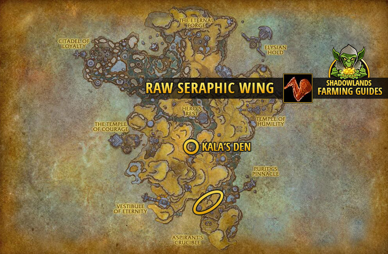 Farmspot for Farming Raw Seraphic Wing in Bastion