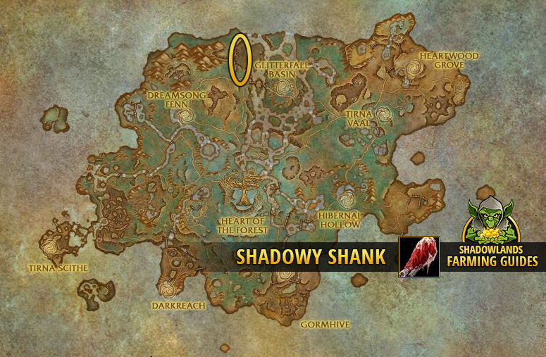 Farmspot for Farming Shadowy Shank in Ardenweald