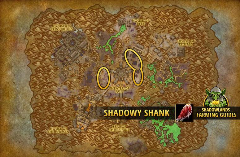 Farmspot for Farming Shadowy Shank in Maldraxxus